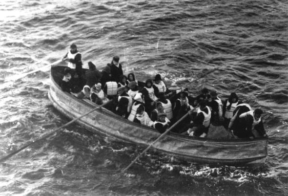 Rettungsboot Titanic - U.S. National Archives / Zum Vergrößern auf das Bild klicken