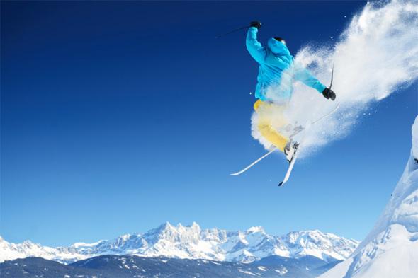 Sportfotografie Ski Freerider