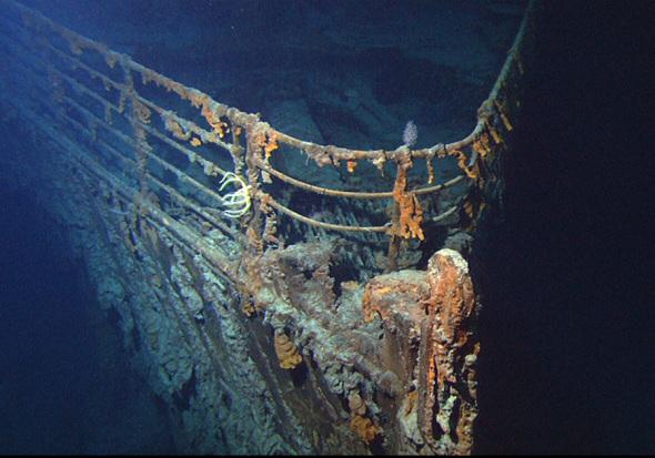 Bug der Titanic - Foto: U.S. National Oceanic and Atmospheric Administration - Public Domain / Zum Vergrößern auf das Bild klicken