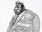 Idi Amin - Karikatur von Edmund S. Valtman - Public Domain