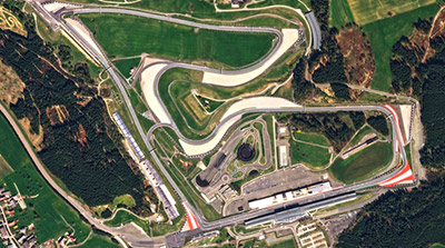 Red Bull Ring Spielberg - Foto: Planet Labs, Inc. (modified by MN) - CC BY-SA 4.0